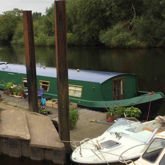 york wide beam UK airbnb boat