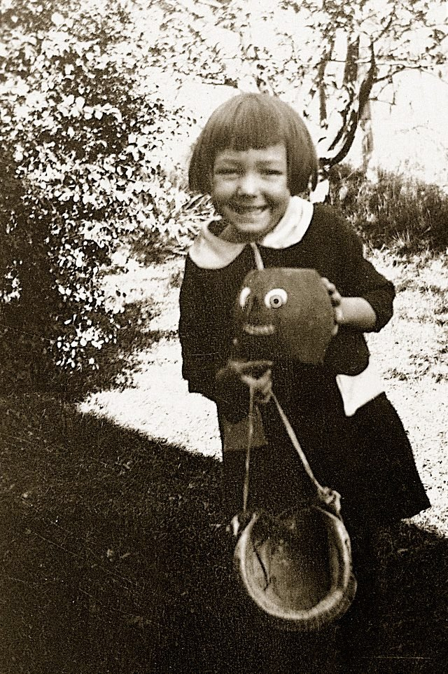vintage little school girl