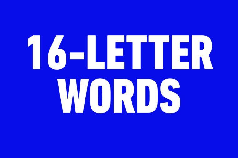 16 letter words