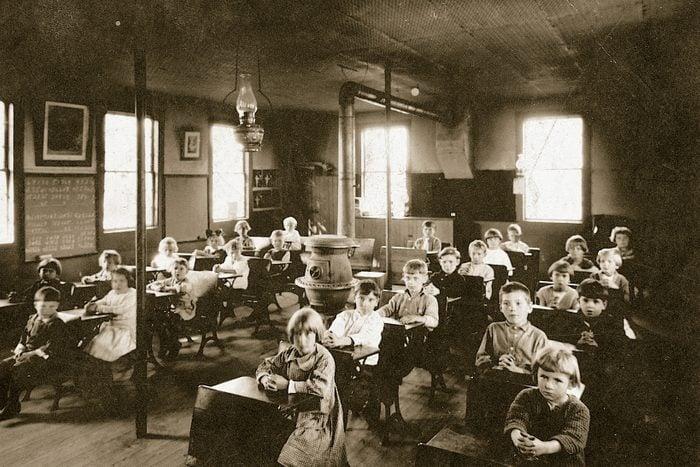 vintage school classroom