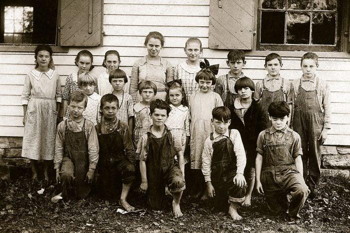 discipline vintage school photo class