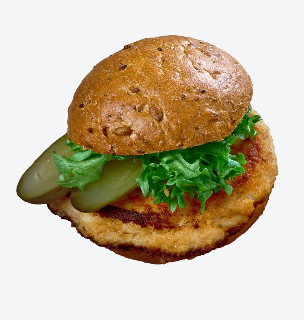 Breaded pork tenderloin sandwich