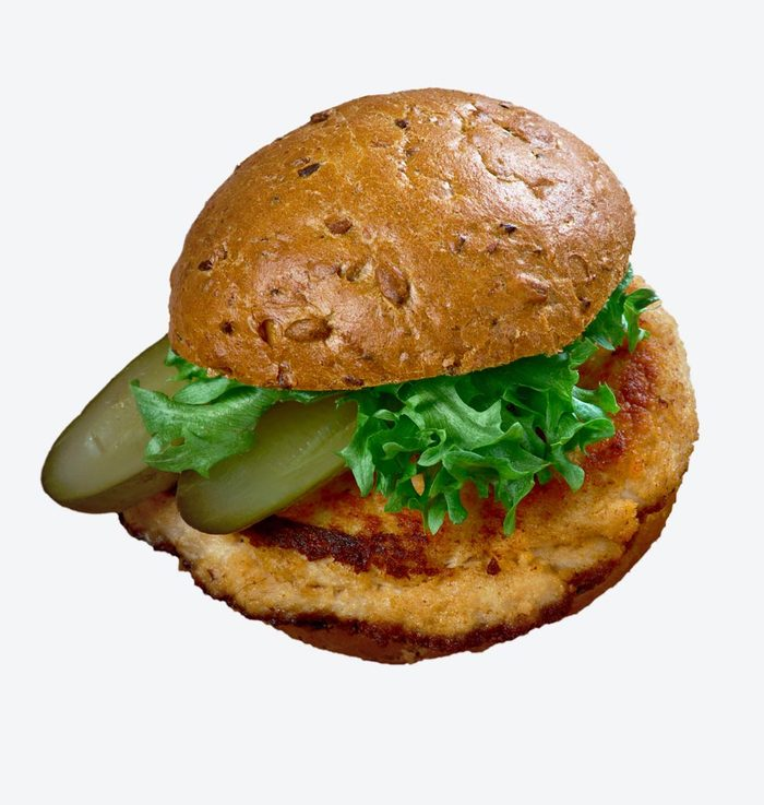 Breaded pork tenderloin sandwich