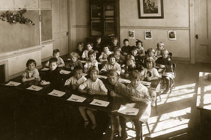 vintage school scissors