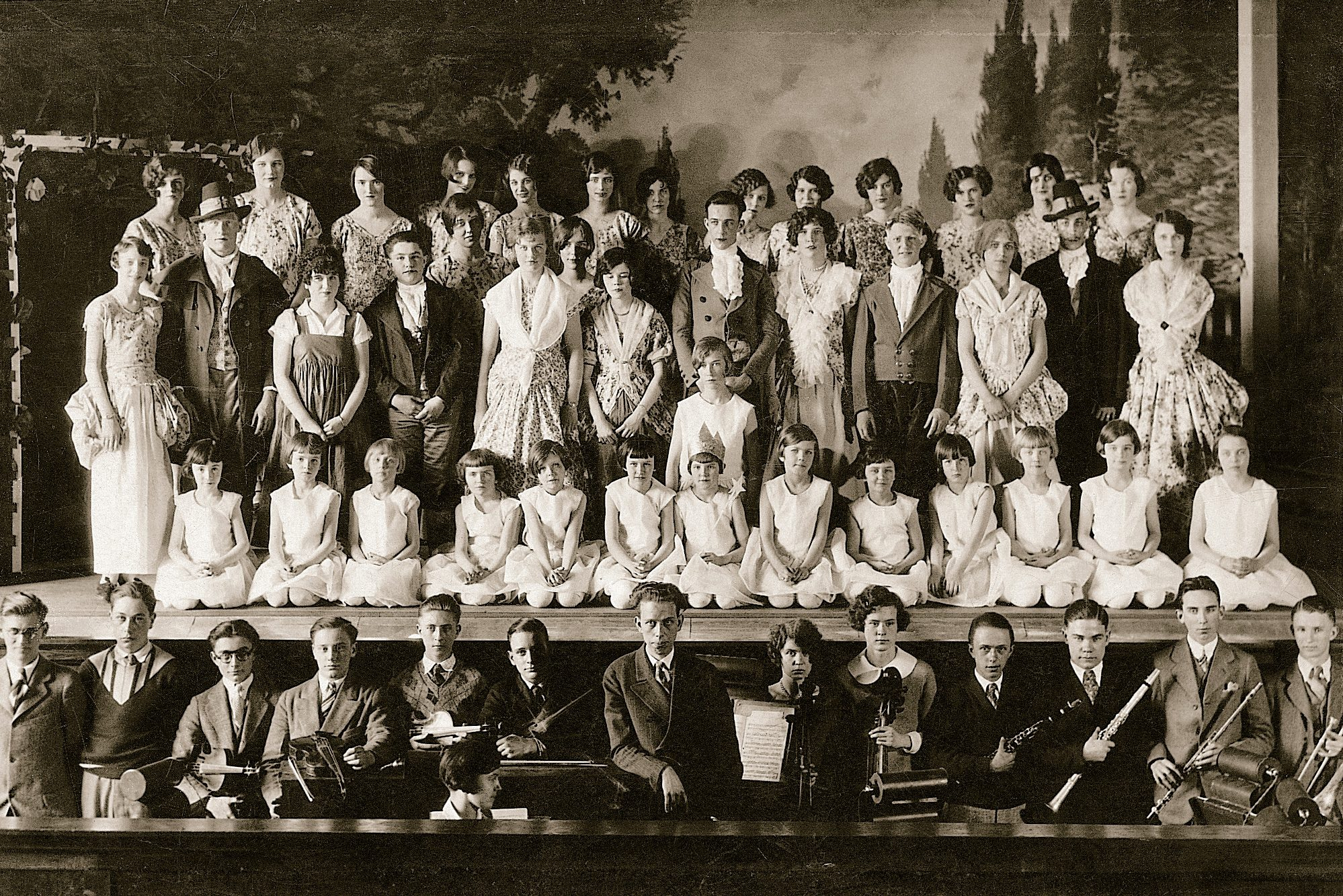 school play theater vintage