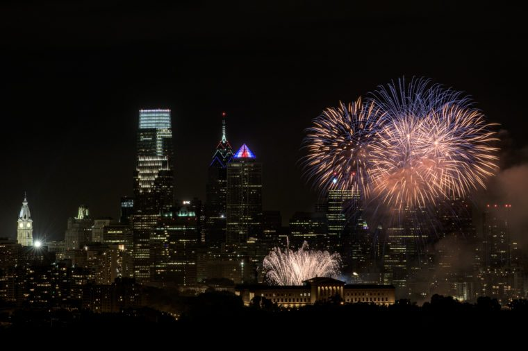4th of July Fireworks in Philadelphia