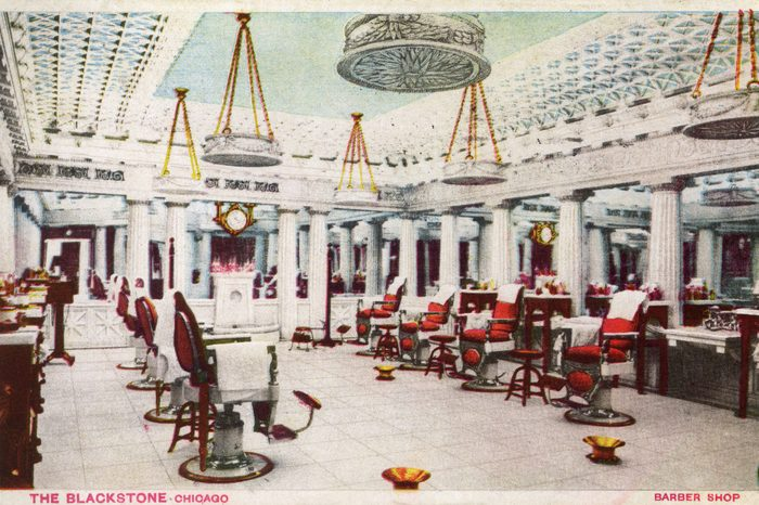 The Barber Shop at the Historic Blackstone Hotel in Chicago