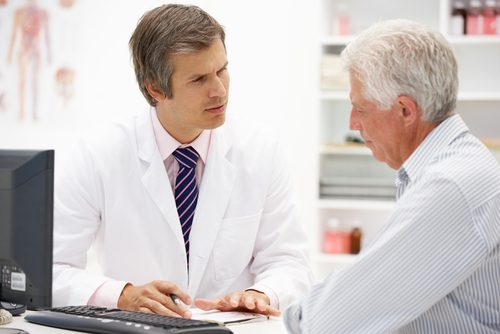 doctor and old patient