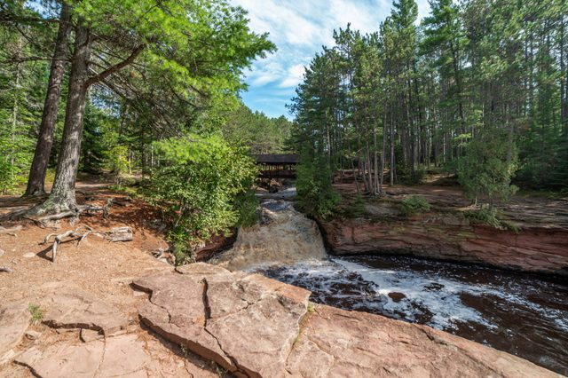 Amnicon Falls State Park is an 825 acre state park in Wisconsin, featuring several waterfalls