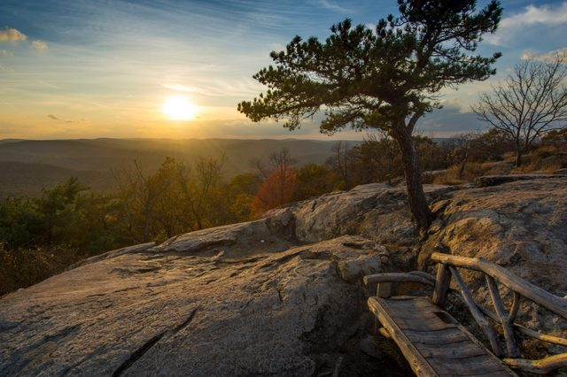 Bear Mountain NY Sunset during the Fall