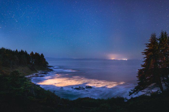 Bio-luminescence in ocean water