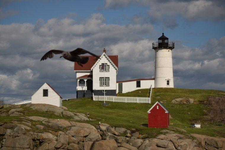 Cape Neddick Lighthouse in Cape Neddick; Maine
