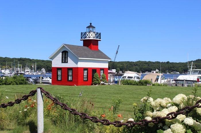 Douglas-Saugatuck Lighthouse in Douglas Michigan.