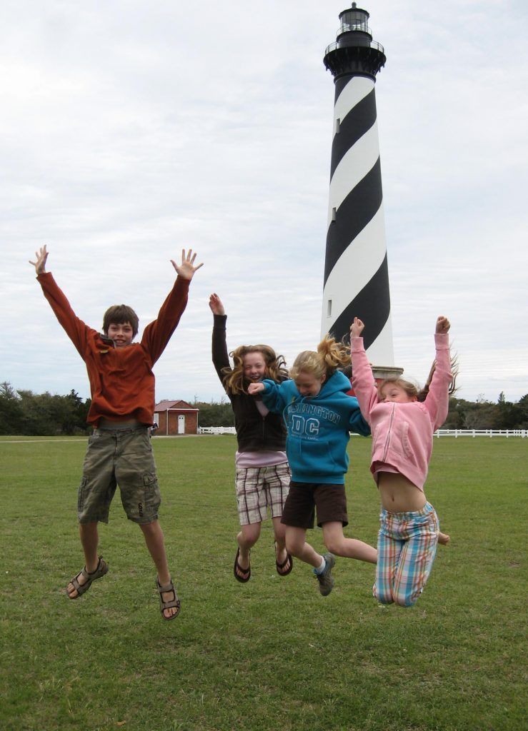 Cape Hatteras Lighthouse family outer banks