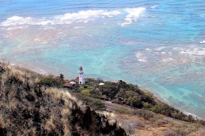 honolulu hawaii diamond head state park lighthouse