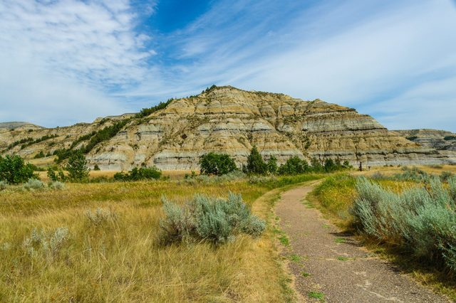 Caprock Coulee Nature Trail in Theodore Roosevelt National Park in North Dakota, United States