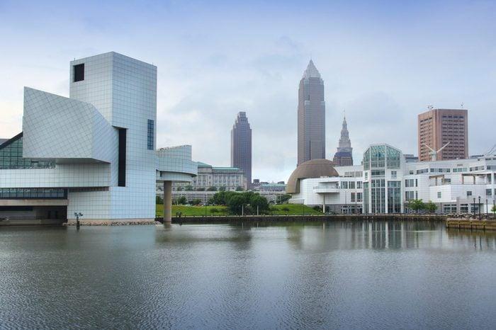 Cleveland, Ohio in the United States. City skyline.