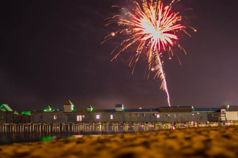 Fireworks over Old Orchard Beach