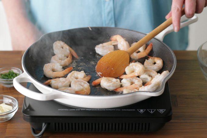 cooking shrimp