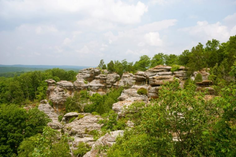 Camel Rock and Monkey Face at Garden of the Gods National Forest, Illinois, USA