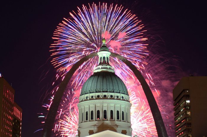 July 4th Fireworks at the St Louis Arch