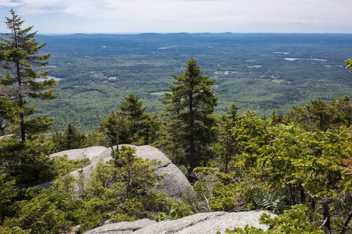 View from the top of the red dot trail on Monadnock Mountain in southern New Hampshire.