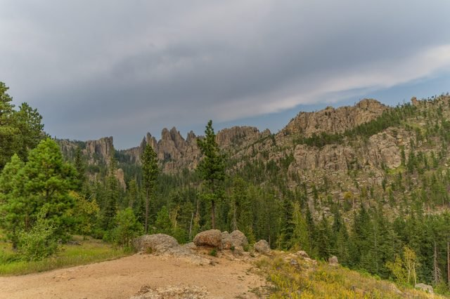 Needles Highway in the Black Hills of South Dakota, near Mount Rushmore National Monument
