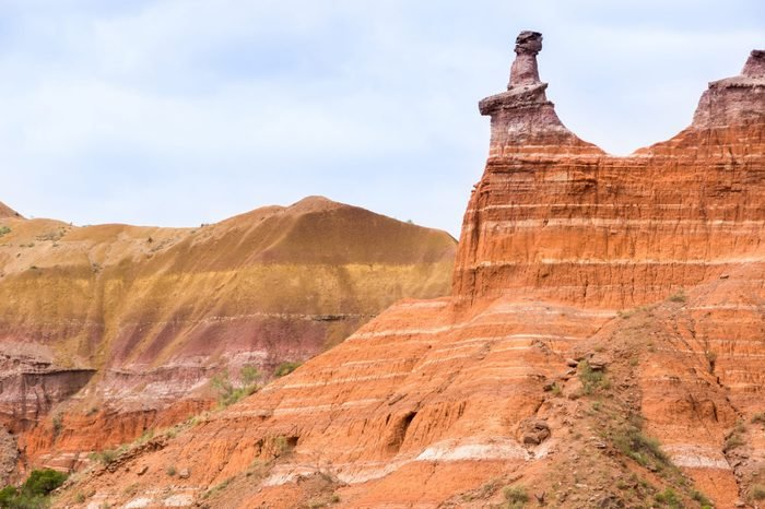 Palo Duro Canyon system of Caprock Escarpment located in Texas Panhandle near Amarillo, Texas, United States