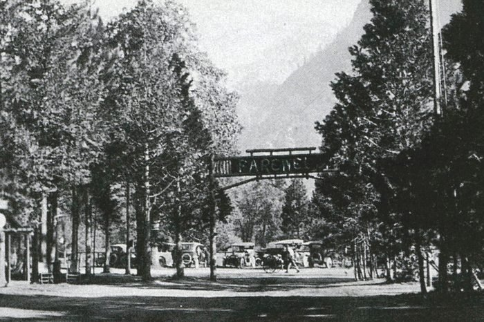 Camp in yosemite valley