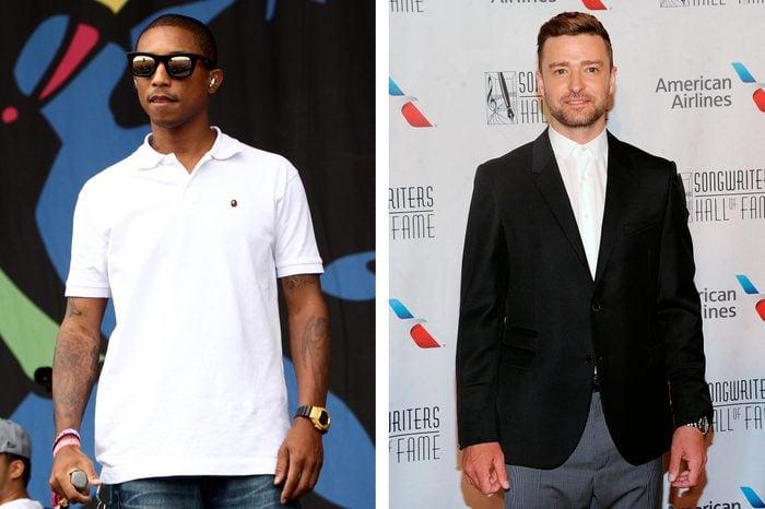 Pharell Williams and Justin Timberlake