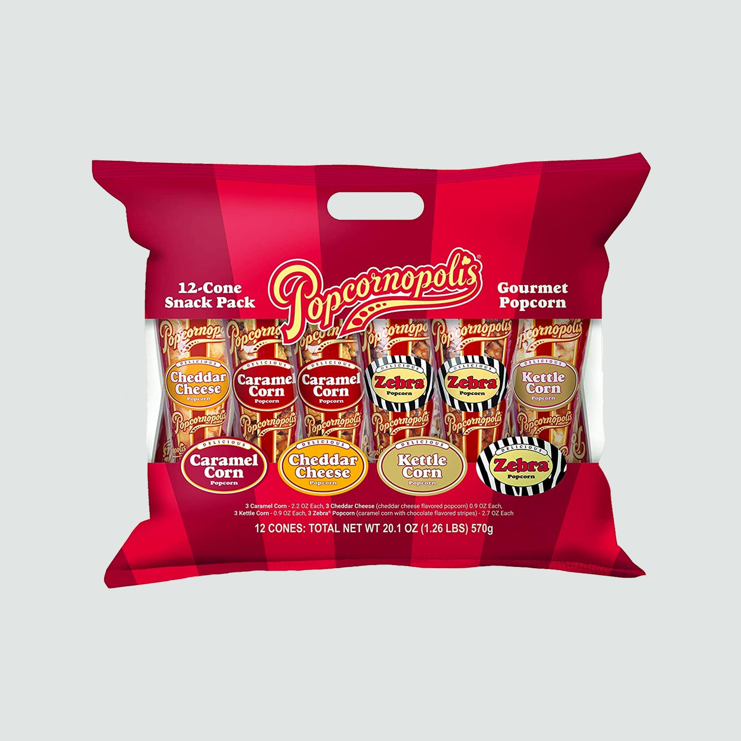 Popcornopolis Popcorn Cone Snack Pack