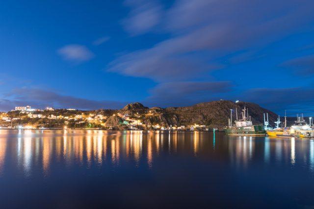 St John's harbor at night