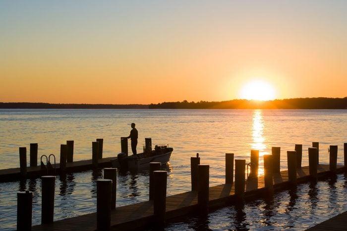 Sunrise on Elk River,Maryland