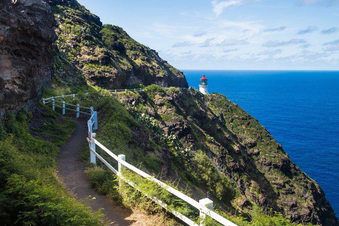 Trail to Makapu'u Point Lighthouse, Oahu, Hawaii