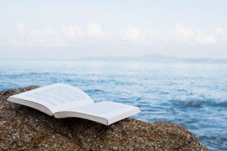 Book On The Beach Concept