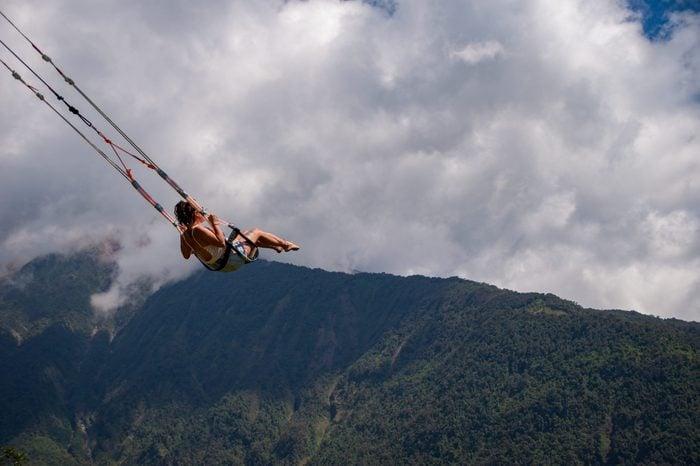Swing, La Casa del Arbol, Banos, Ecuador