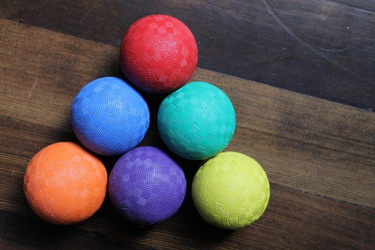 colorful playground balls
