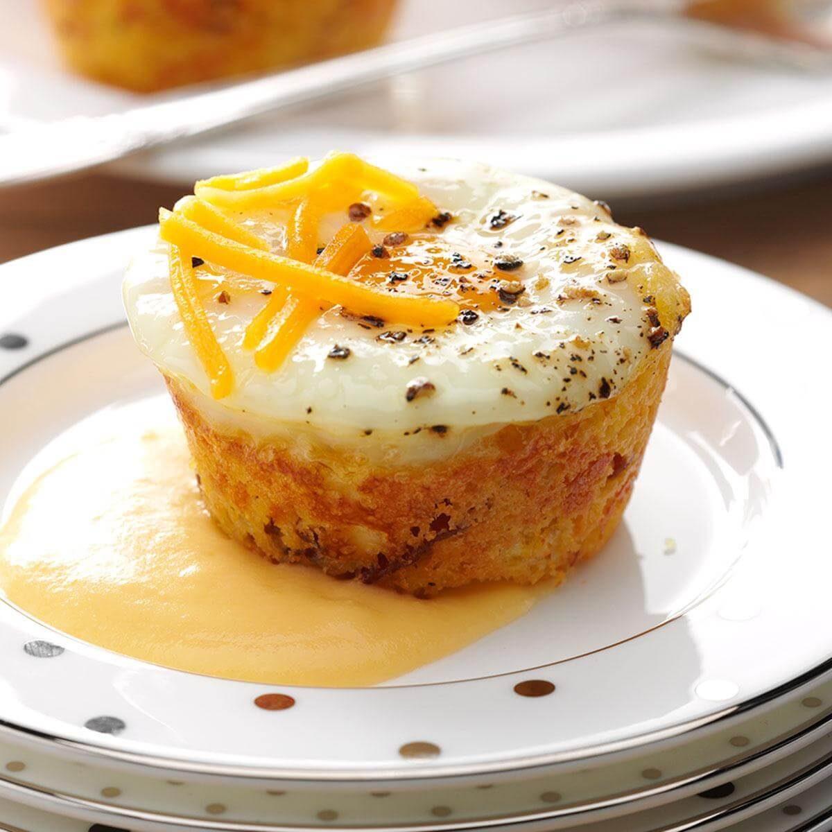 Shirred Egg Corn Muffins