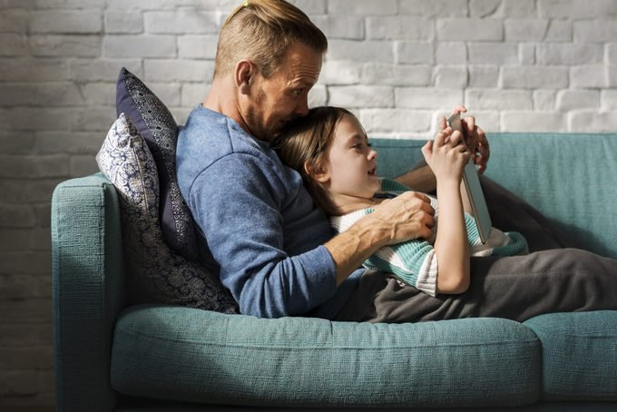 Father Daughter Spend Time Holiday Togetherness