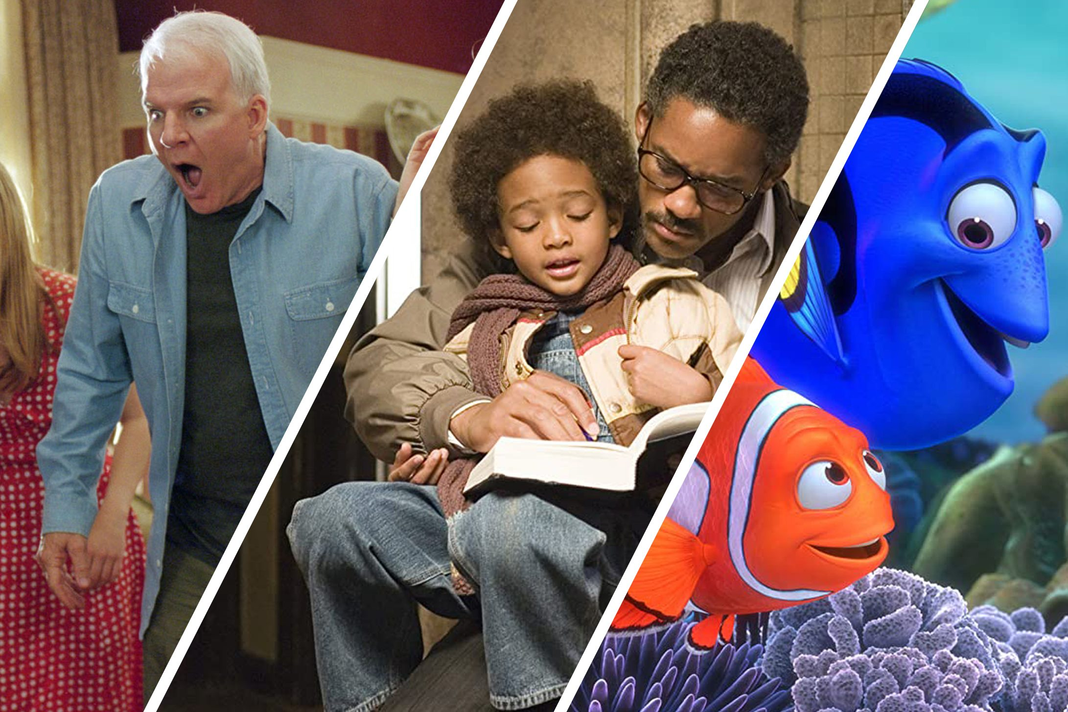 collage of movies for fathers and children