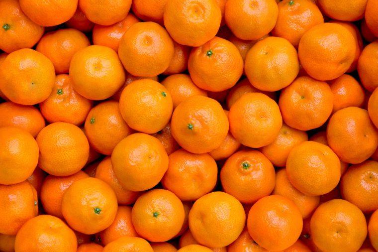 Fresh mandarin oranges texture
