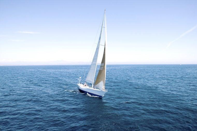 Sail Boat on Ocean
