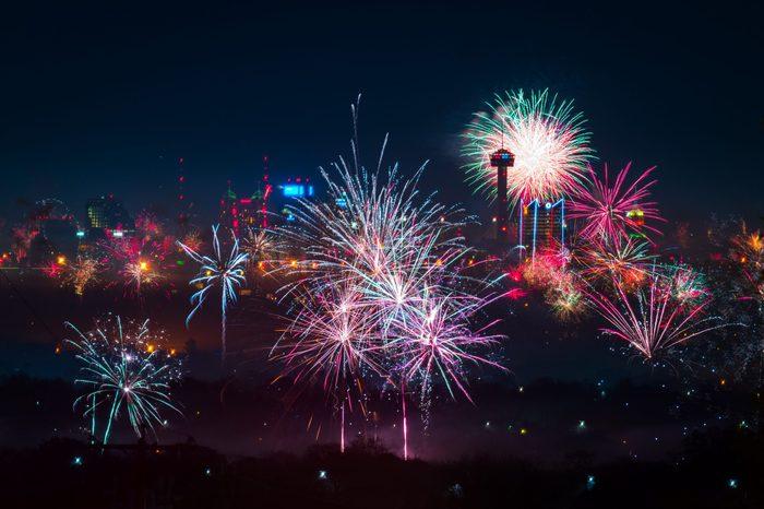 San Antonio New Year's fireworks