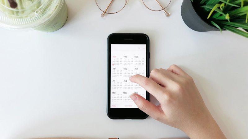 cell phone calendar