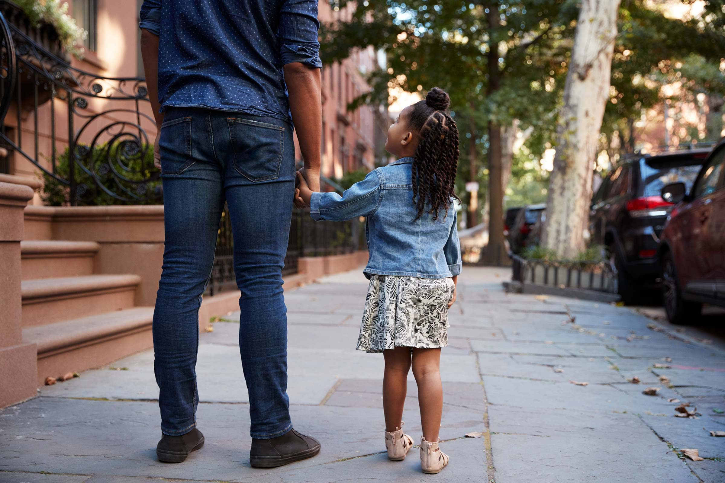 father daughter walk