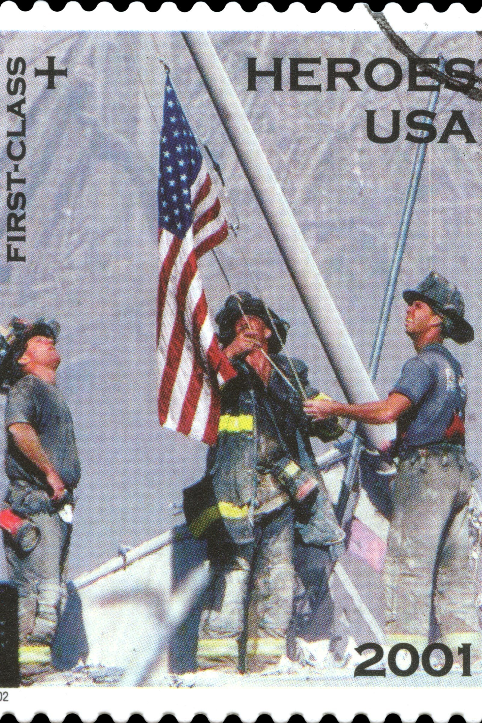 firefighters 9/11 stamp