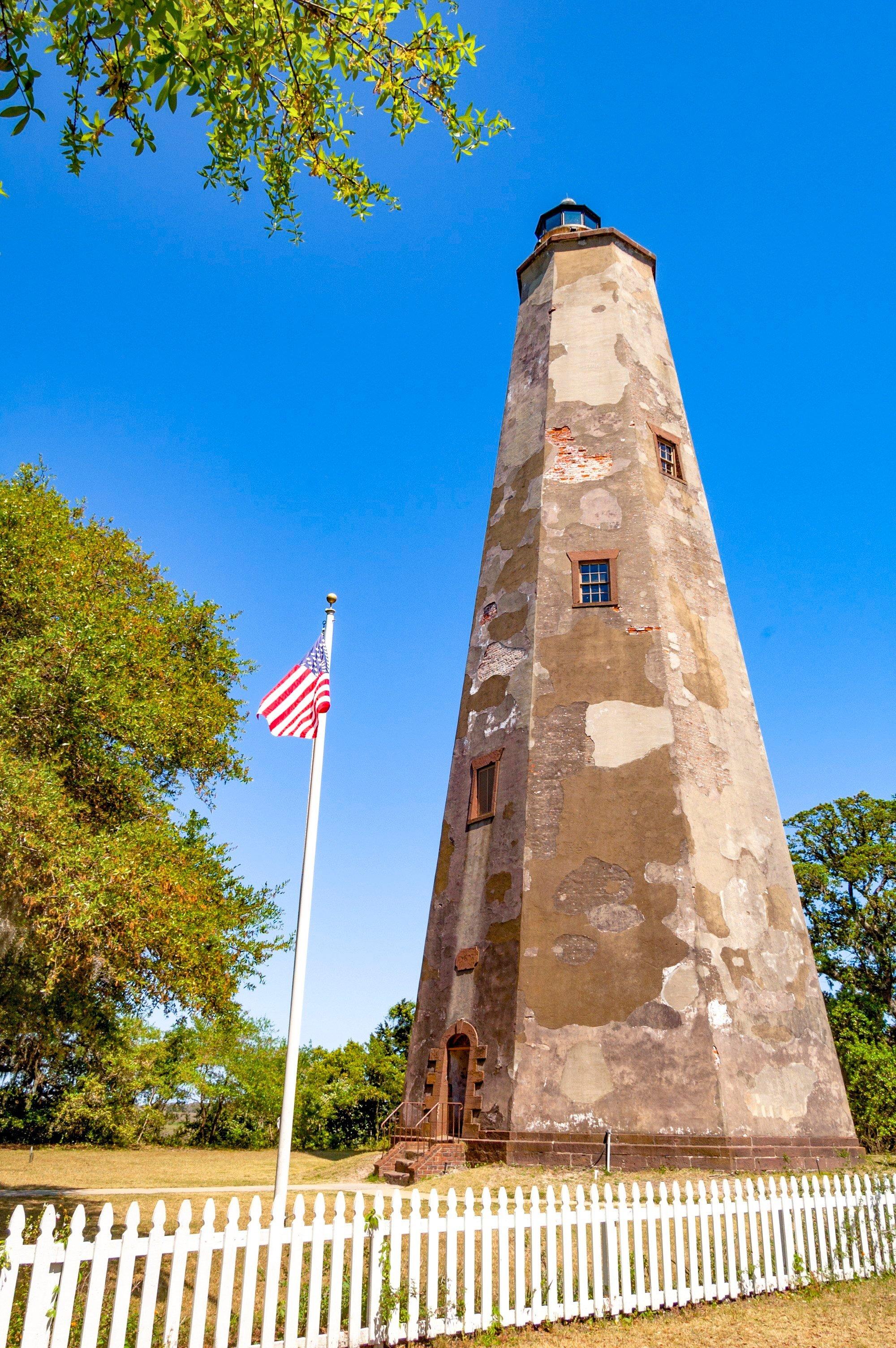 Old Baldy lighthouse on Bald Head Island, North Carolina
