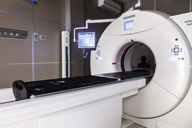Siemens tomograph produces verification images of patients in the Cyclotron Center at the Institute of Nuclear Physics