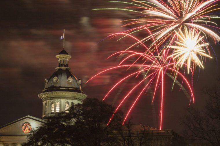 South Carolina State House Firework