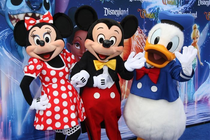 Minnie Mouse, Mickey Mouse and Donald Duck